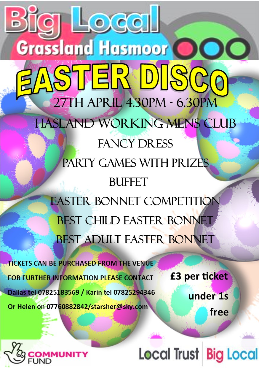 easter disco poster